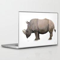 rhino Laptop & iPad Skins featuring Rhino by Mel Hampson