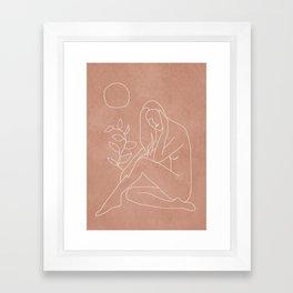 Engraved Nude Line I Framed Art Print