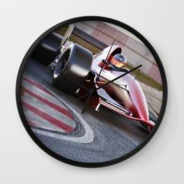 Race car in turn Wall Clock