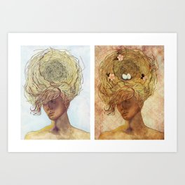 Home (diptych) Art Print