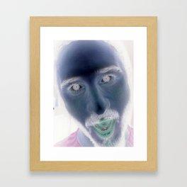 NegaFaces Framed Art Print