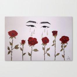 rosas y lagrimas Canvas Print