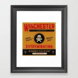Supernatural Matchbook Advertisement Framed Art Print