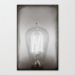 Vintage Edison Light bolb Canvas Print