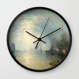 "J.M.W. Turner ""Keelmen Heaving in Coals by Moonlight"" Wall Clock"