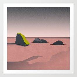 Landscape with Rocks Art Print