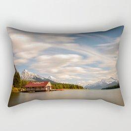 MALIGNE LAKE AUTUMN JASPER CANADA LANDSCAPE PHOTOGRAPHY Rectangular Pillow