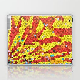 Yellow and red abstract Laptop & iPad Skin