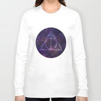 deathly hallows Long Sleeve T-shirts featuring Deathly Hallows in Space by Hannah Ison