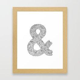 Everything & Nothing (White) Framed Art Print