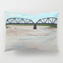 Low Tide at the Sackville Train Bridge Pillow Sham