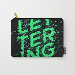 Typography VS Lettering Carry-All Pouch