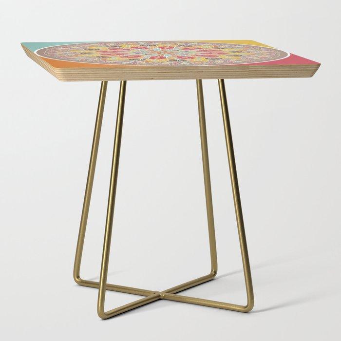 Mandala Boho Style Side Table