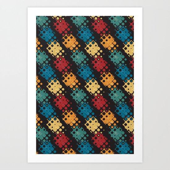 retro abstract Art Print