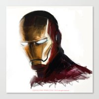 ironman Canvas Prints featuring Ironman by Emiliano Morciano (Ateyo)