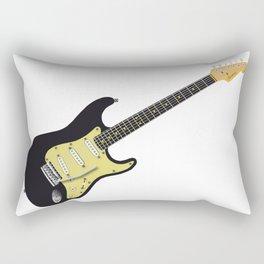 Black Electric Guitar Rectangular Pillow