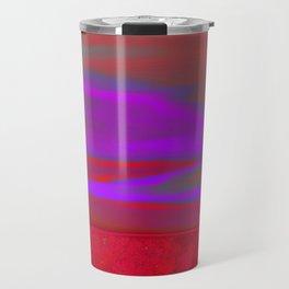 """Twilight Meadow"" (Red/Purple) Digital Painting // Fine Art Print Travel Mug"