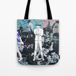 WHITE COLLAGE | Classic and Modern MOVIE Stars | digital Painting | Collage,digital print,art,poster Tote Bag