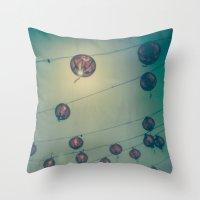 lanterns Throw Pillows featuring Lanterns by Leandro