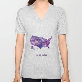 United States Unisex V-Neck