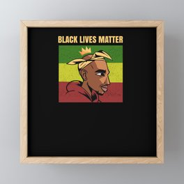 Afroamerican Rapper Black Lives Matter Framed Mini Art Print