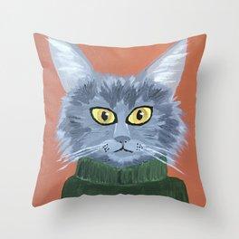 Brando the Cat Throw Pillow