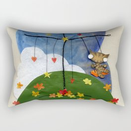 Swing Swing! Cat On A Swing Rectangular Pillow