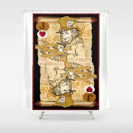 'Mad Hatter' (Alice in Steampunk Series) Shower Curtain
