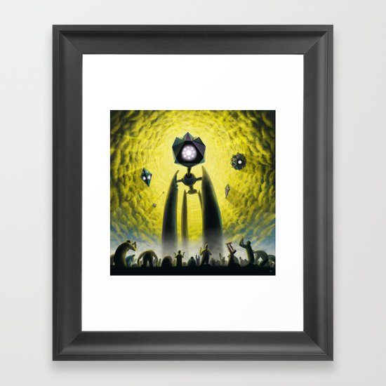 Utkin - Steel God Creation Framed Art Print