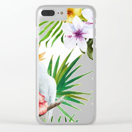 Tropical Bird Pattern 03 Clear iPhone Case