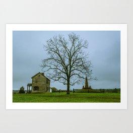 Henry House and Bull Run Monument Manassas National Battlefield Park Virginia Art Print