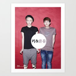 Key and Onew  Art Print