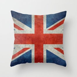 "English Flag ""Union Jack"" bright retro 3:5 Scale Throw Pillow"