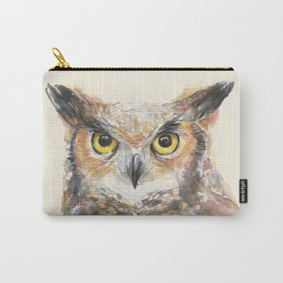 Owl Great Horned Bird Animals Carry-All Pouch