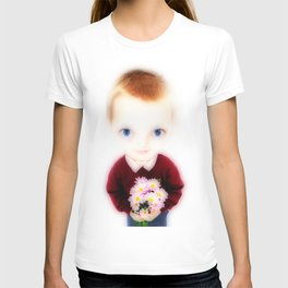 Big Eye Boy with Flowers T-shirt