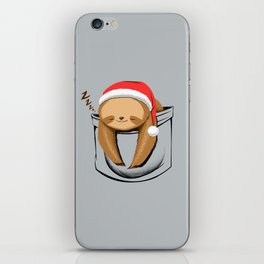 Sloth in a Pocket Xmas iPhone Skin