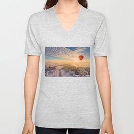 Floating Sunrise Unisex V-Neck