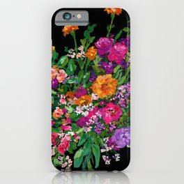 Marigold and Waxflower Bouquet iPhone Case