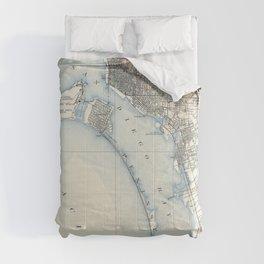 Vintage Map of San Diego California (1902) Comforters