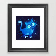 Sapphire Kitty Framed Art Print