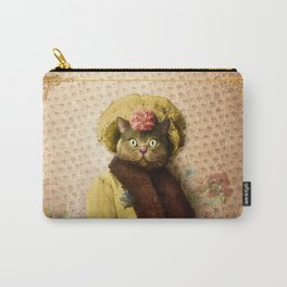 Lady Vanderkat with Roses Carry-All Pouch