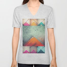Bright Triangles Unisex V-Neck