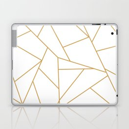 Geometric Gold Hexagon Pattern Laptop & iPad Skin