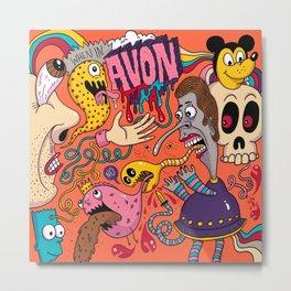 Avon Doodle Metal Print