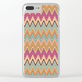 Seamless chevron zigzag pattern geometrical background Clear iPhone Case