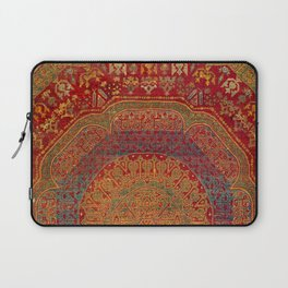Bohemian Medallion VI // 15th Century Old Distressed Red Green Blue Coloful Ornate Rug Pattern Laptop Sleeve