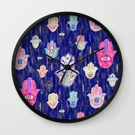 Hamsa Mystical Protection Wall Clock