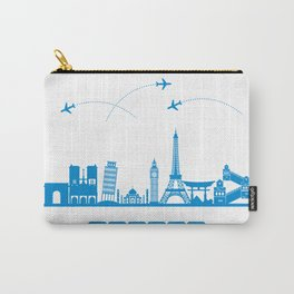 Travel concept with landmarks Carry-All Pouch