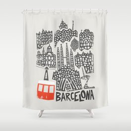 Barcelona Cityscape Shower Curtain