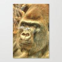 gorilla Canvas Prints featuring Gorilla by Doug McRae